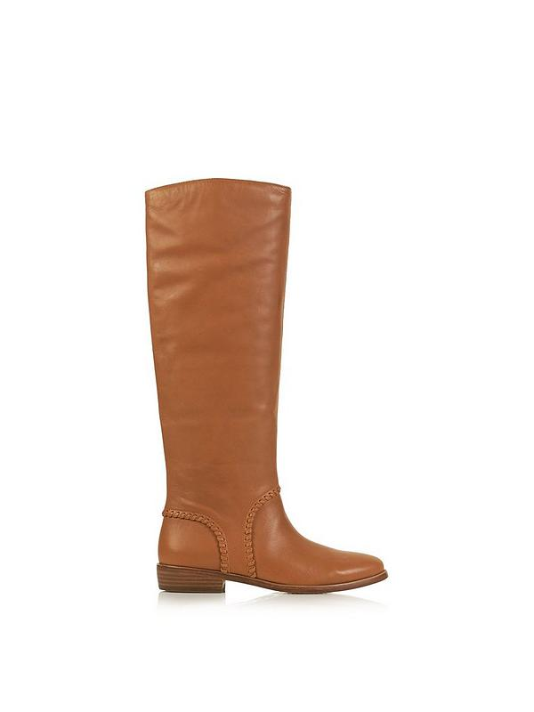 c15f547a8a3 Gracen Whipstitch Flat Boots - Brown