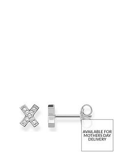 thomas-sabo-sterling-silver-cubic-zirconia-classic-x-cross-stud-earrings