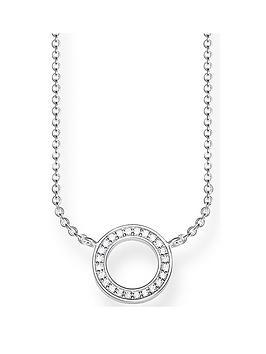 thomas-sabo-sterling-silver-cubic-zirconianbspclassic-open-circle-necklace