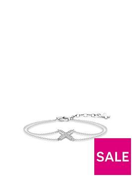 thomas-sabo-sterling-silver-cubic-zirconia-classic-cross-bracelet