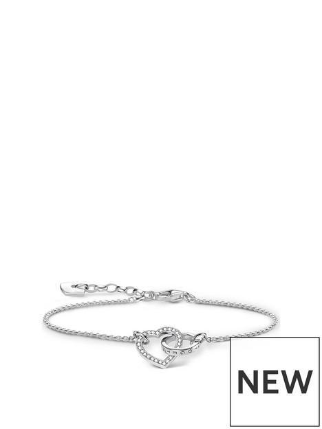thomas-sabo-sterling-silver-cubic-zirconia-heart-together-forever-link-bracelet