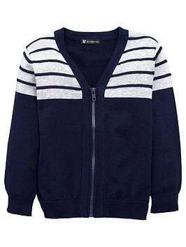 mini-v-by-very-boys-zip-front-cardigan