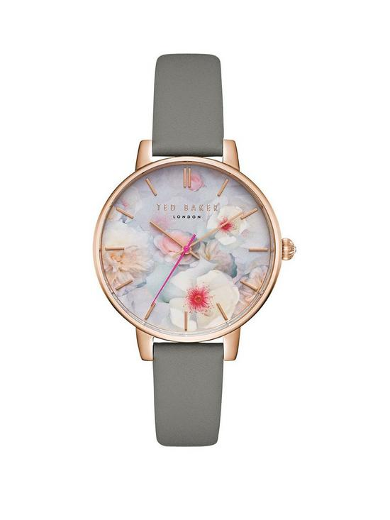 8ed4b4e77 Ted Baker Kate Floral Dial Leather Strap Ladies Watch