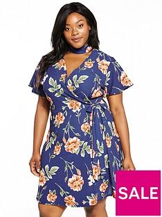 girls-on-film-curve-rose-print-wrap-dress-with-choker