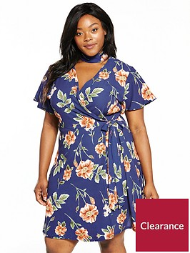 girls-on-film-curve-rose-print-wrap-dress-with-choker