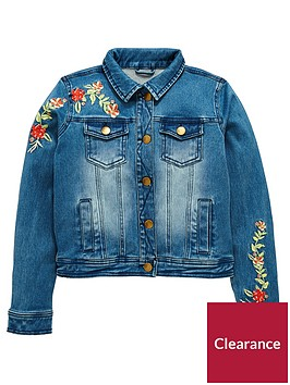 v-by-very-girls-floral-embroidered-denim-jacket