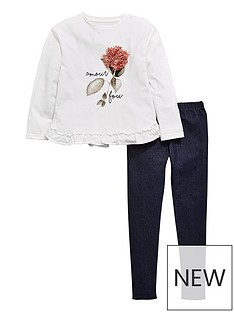 v-by-very-floral-trim-top-and-legging-set