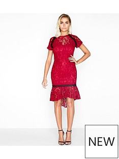 paper-dolls-paper-dolls-soft-lace-peplum-hem-contrast-trim-dress