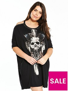 religion-curve-fall-beaded-t-shirt-dress