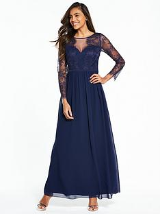 little-mistress-long-sleeve-lace-maxi-dress-navy
