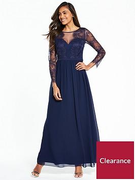 little-mistress-long-sleeve-lace-maxi-dress-navy