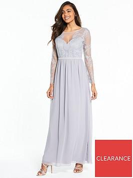 little-mistress-long-sleeve-lace-maxi-dress-grey