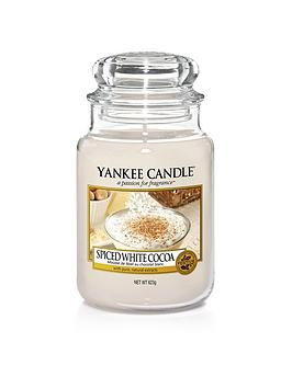 Yankee Candle Spiced White Cocoa Classic Large Jar Candle thumbnail