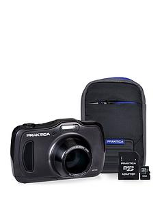 praktica-luxmedia-wp240-waterproof-camera-kit-withnbsp8gb-micro-sd-card-amp-case