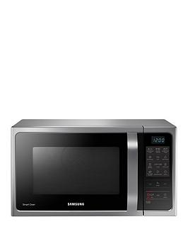 Samsung Mc28H5013As/Eu 28-Litre Convection Microwave Oven With Ceramic Enamel Interior And 3 Year Samsung Parts And Labour Warranty - Silver