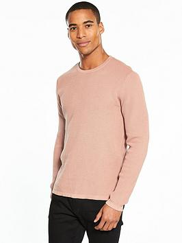 v-by-very-waffle-crew-neck-knit-pink