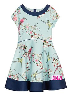 baker-by-ted-baker-girls039-blue-bird-print-scuba-prom-dress