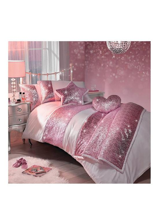 Kids bedroom duvet covers bedding home garden very kylie minogue sequin scatter pink single duvet cover set gumiabroncs Gallery