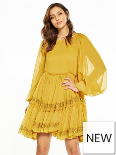 v-by-very-smock-swing-dress-mustard