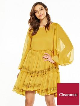 v-by-very-smock-swing-dress-mustard