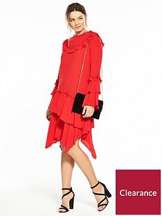 v-by-very-hanky-hem-frill-midi-dress-red