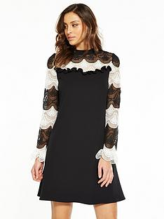 v-by-very-mono-lace-swing-dress