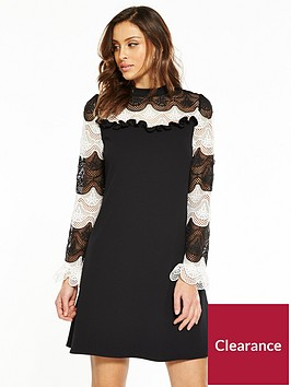 v-by-very-mono-lace-swing-dress