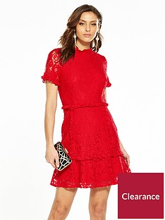 v-by-very-lace-frill-hem-dress-red