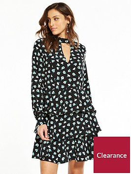 v-by-very-tiered-choker-midi-dress-floral