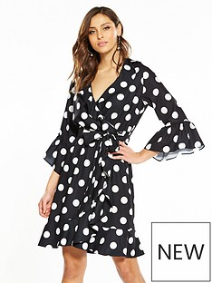 v-by-very-spot-wrap-dress