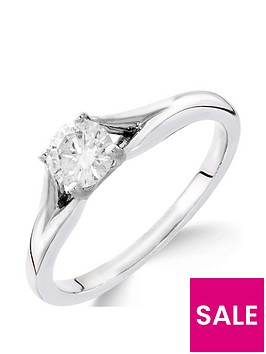 love-diamond-9ct-white-gold-14nbspcarat-diamond-solitaire-with-tapered-shoulders-ring