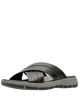 clarks-brixby-cross-leather-sandal