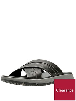 clarks-brixby-cross-leather-sandals-black