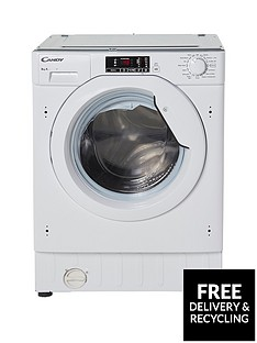 Candy CBWM816S 8kg Load 1600 Spin Integrated Washing Machine - White