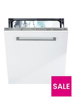 Candy CDI1LS38-02UK Full Size 13-Place Integrated Dishwasher - White/Silver Best Price, Cheapest Prices