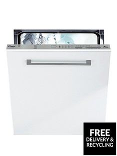 Candy CDI1LS38 Full Size 13-Place Integrated Dishwasher with Smart Touch - White/Silver Best Price, Cheapest Prices