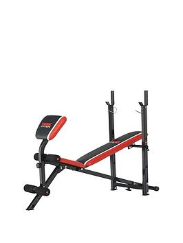 York Warrior 2 In 1 Barbell And Ab Bench With Curl