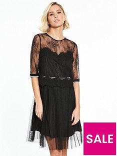 guess-mabelle-lace-sport-trim-skater-dress
