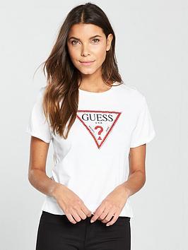 guess-triangle-stud-logo-tee