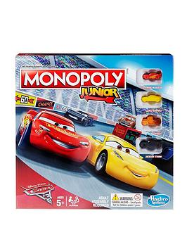 Image of Hasbro Monopoly Junior Disney Pixar Cars 3 Edition From Hasbro Gaming