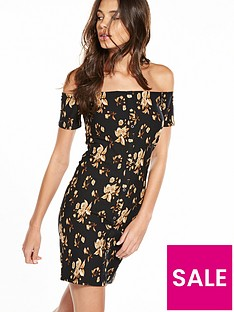 river-island-popper-print-mini-dress
