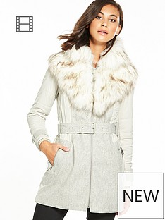 river-island-faux-fur-padded-mix-coat-grey