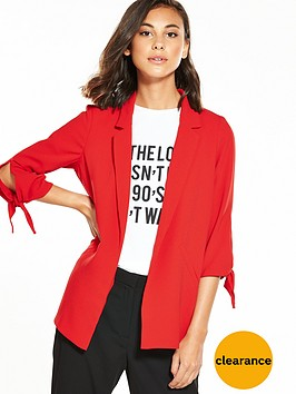 river-island-red-ruched-blazer