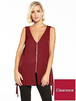 river-island-zip-v-neck-vest