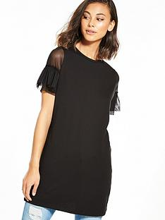 river-island-mesh-sleeve-t-shirt