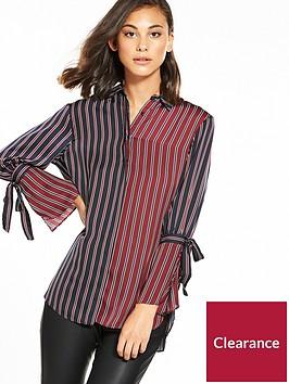 river-island-tie-sleeve-stripe-shirt