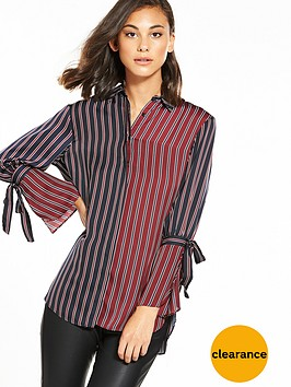 river-island-tie-sleeve-stripe-shirt