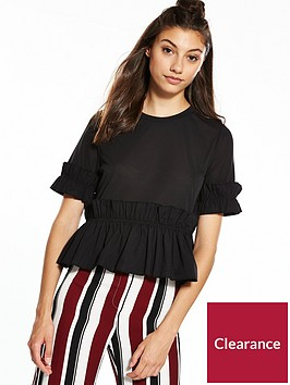 river-island-frill-t-shirt-black