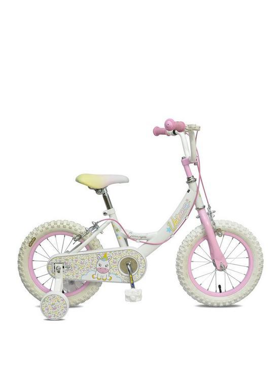 9034d6317635 Concept Unicorn 9 Inch Frame 14 Inch Wheel Mountain Bike White