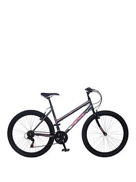 Image of Bronx Infinity Ladies Steel Mountain Bike 18 inch Frame, Grey/Pink, Women